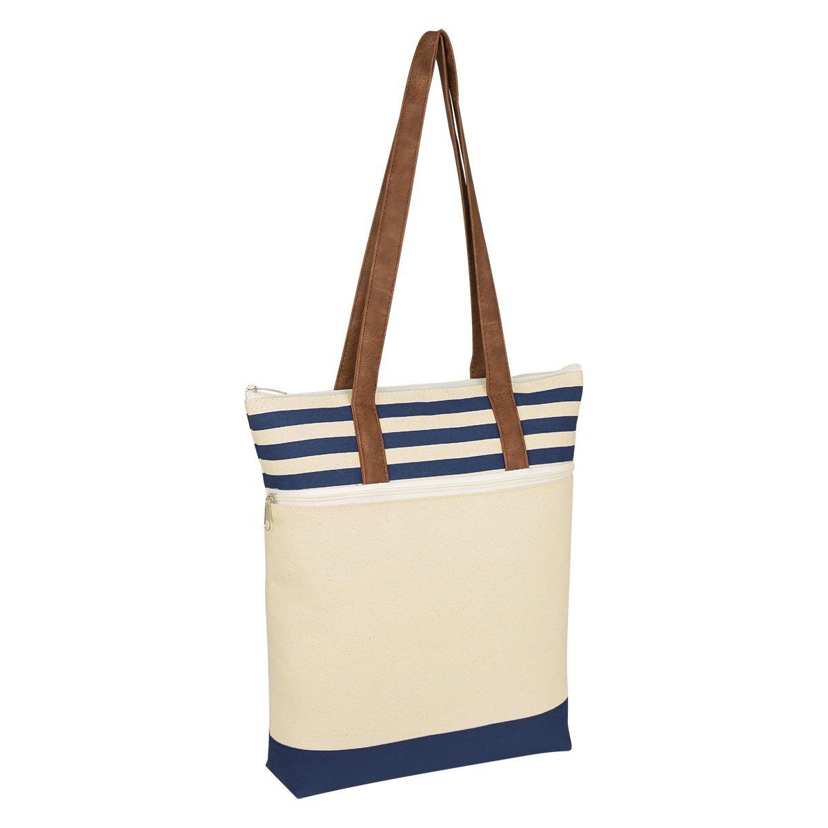 Chelsea Striped Cotton Canvas Tote Bag