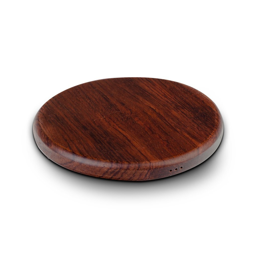 NoWire Wood Qi Charging Coaster