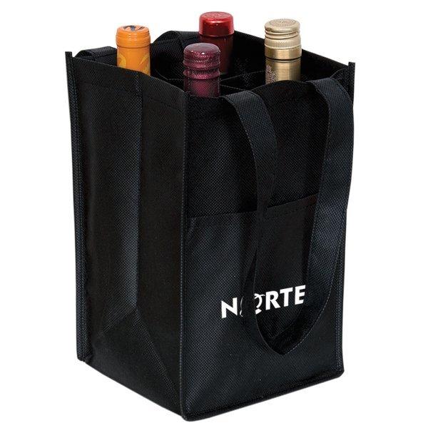Non-Woven Four Bottle Wine Bag