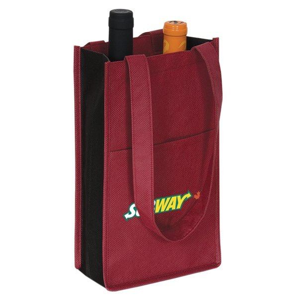 Non-Woven Two Bottle Wine Bag