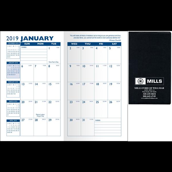 Standard Vinyl Monthly Pocket Planner