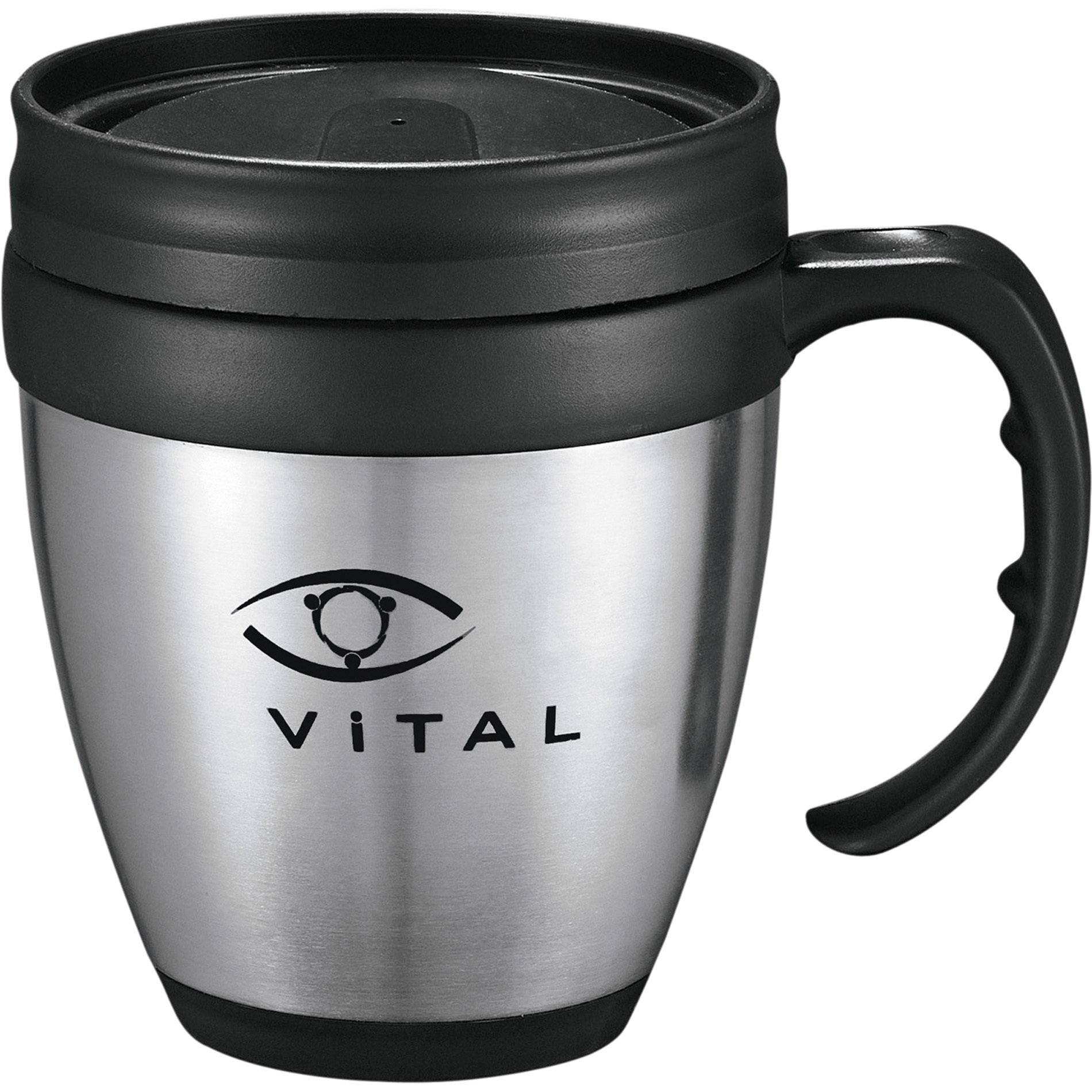 Java Stainless Steel Desk Mug, 14oz.