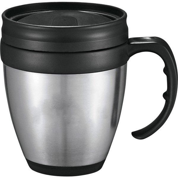 Java Stainless Steel Desk Mug, 14oz.