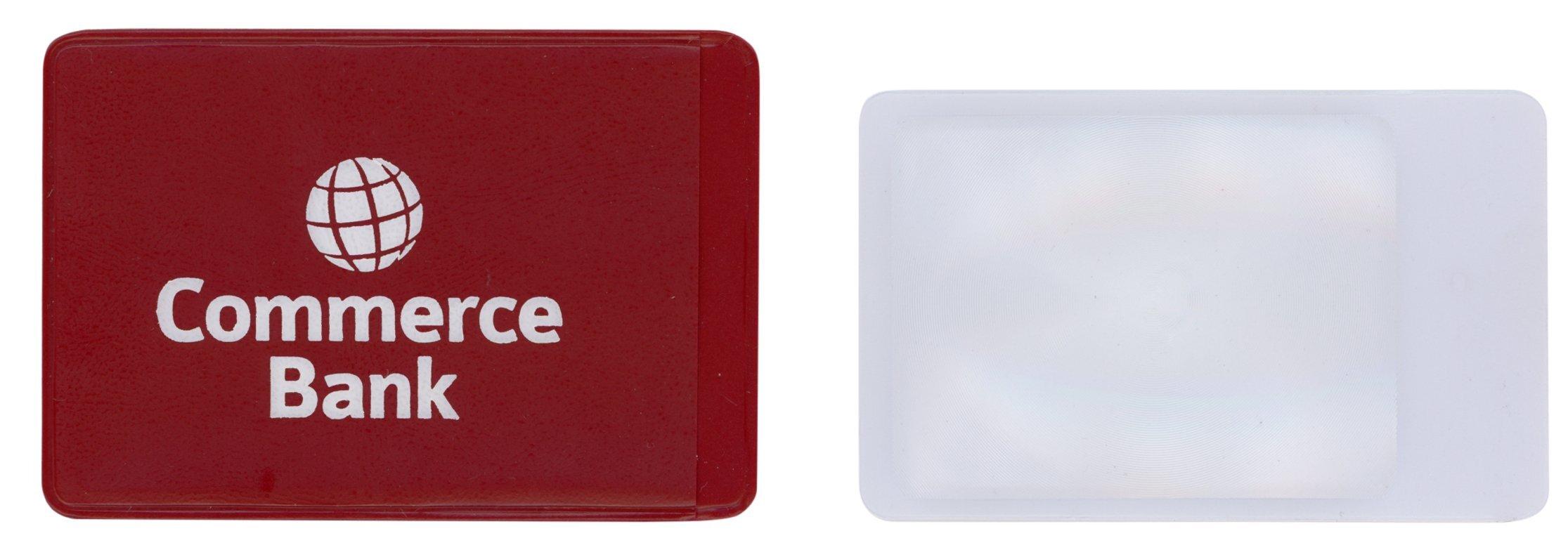 Credit Card Magnifier in a Vinyl Case