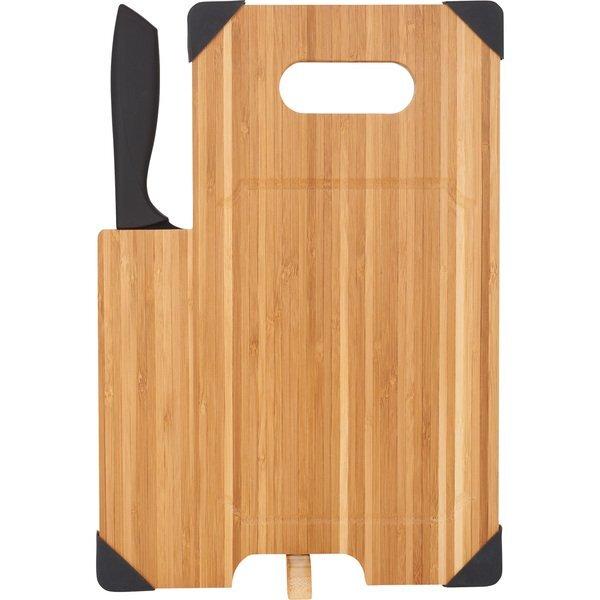 Bamboo Cutting Board w/ Knife