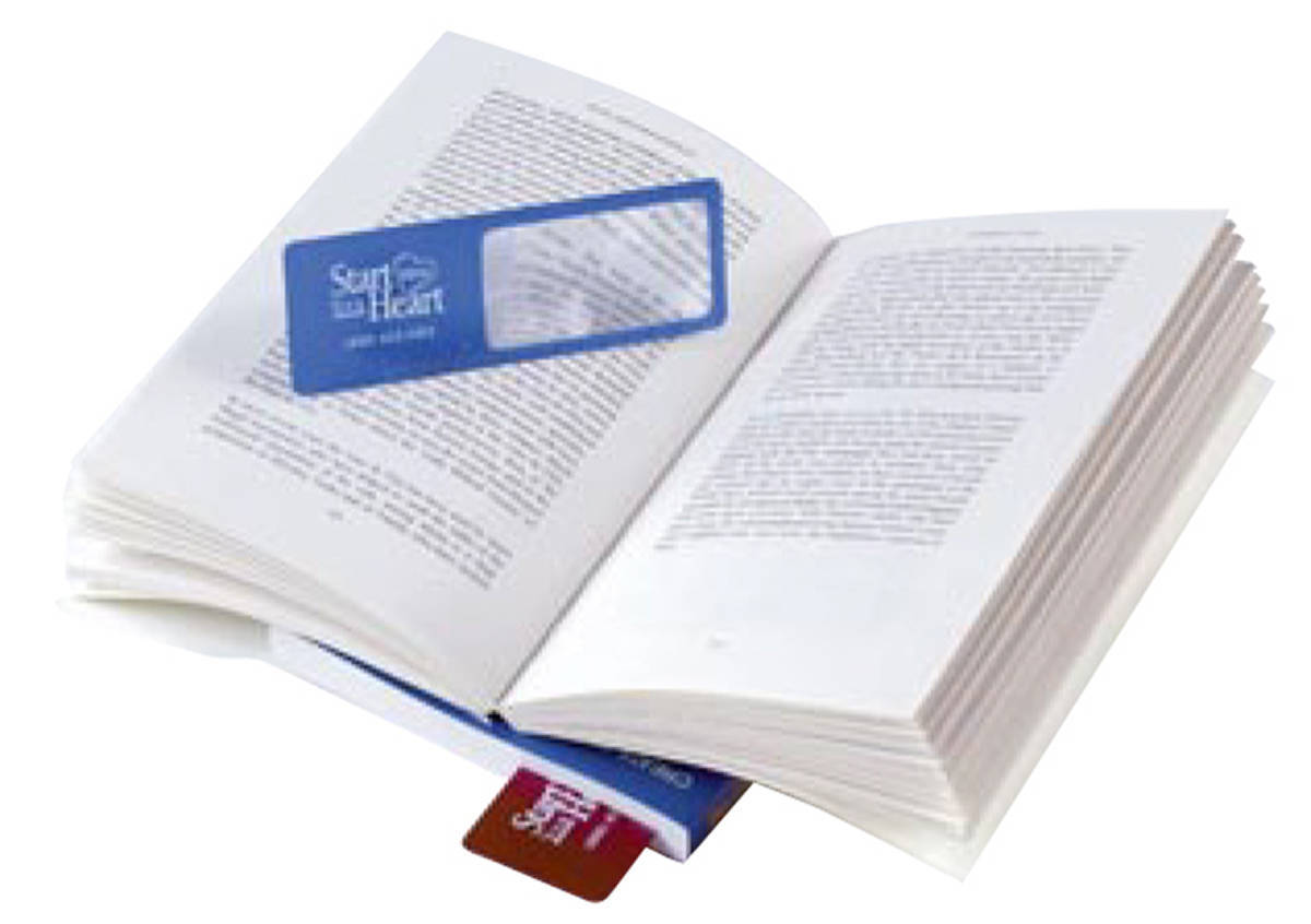 """Page Mark Bookmark Magnifier w/ 4"""" Ruler"""