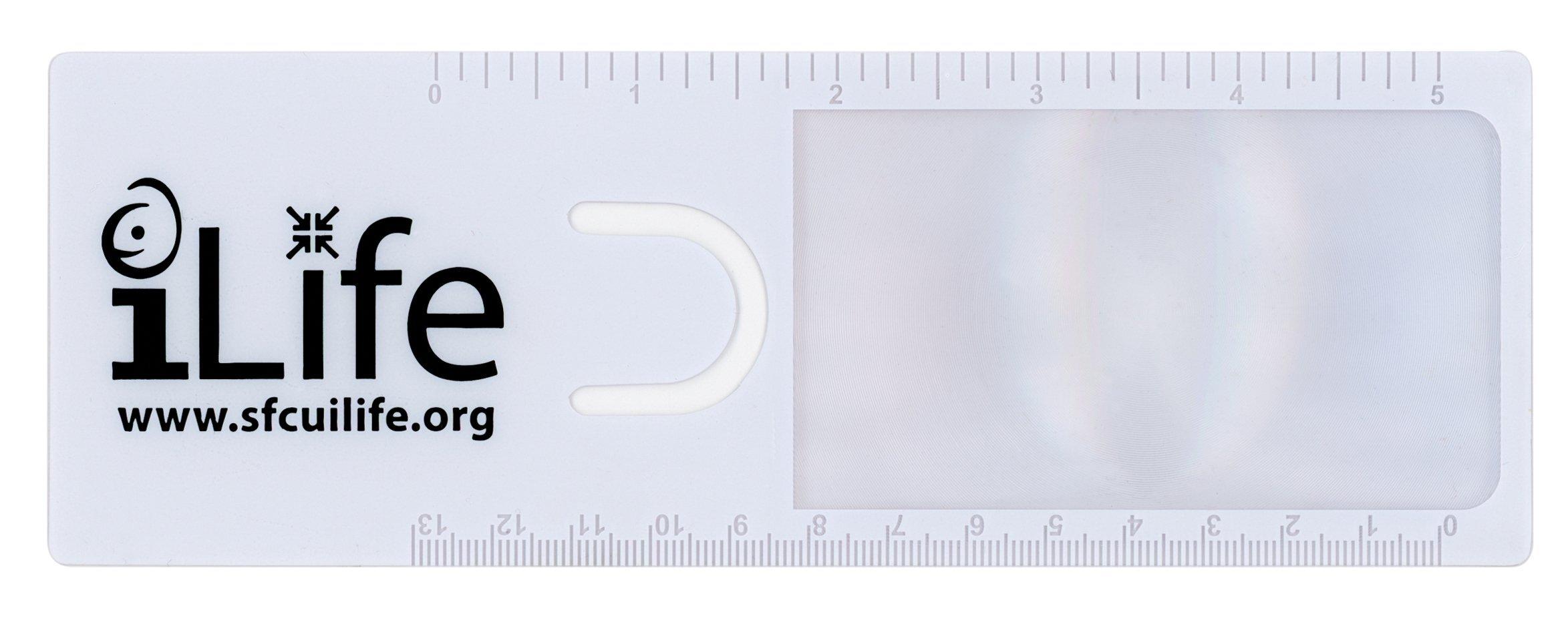 "Readers Mark Bookmark Magnifier w/ 5"" Ruler"