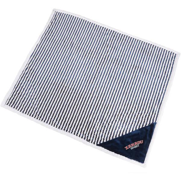 """Field & Co.® Chevron Striped Sherpa Blanket, 50"""" x 60"""""""