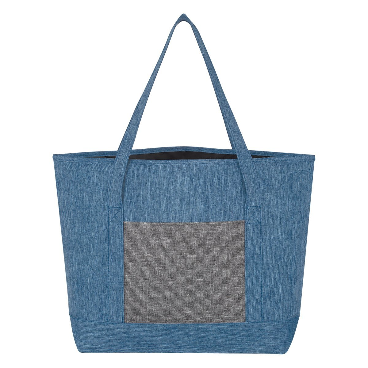 Denim-Effect 600D Tote - Free Set Up Charges!