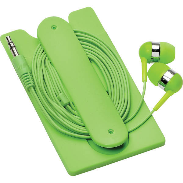 Silicone Card Wallet and Wired Earbuds
