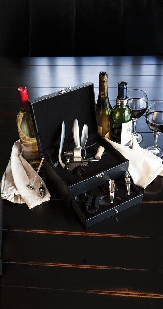 Cabernet Eight-Piece Wine Accessory Box Set