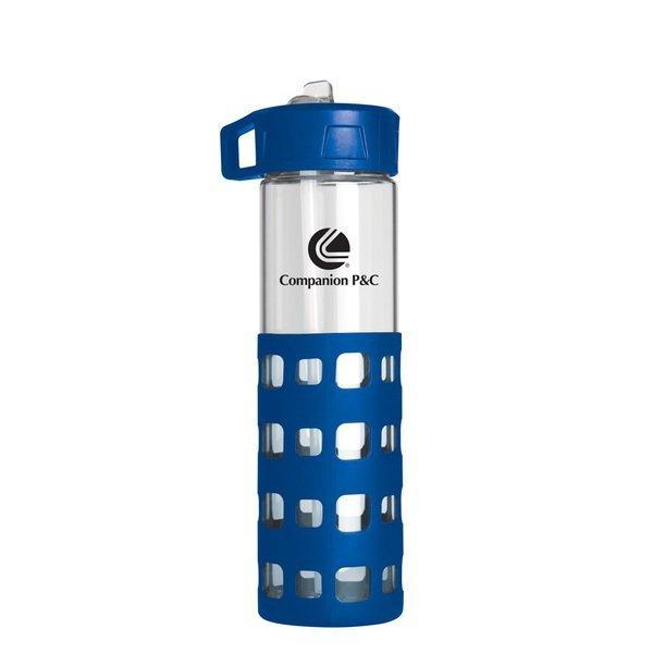 Sip-n-Go Glass Water Bottle, 24oz.