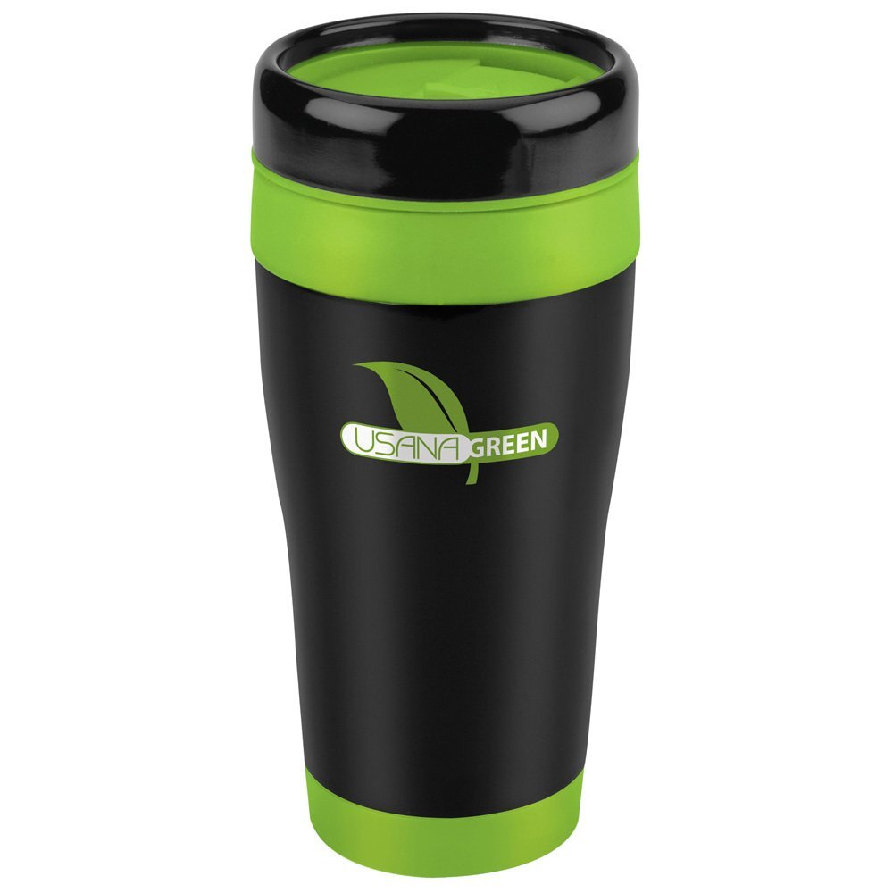 Stainless Black Tumbler with Color Liner, 16oz. - Free Set Up Charges!
