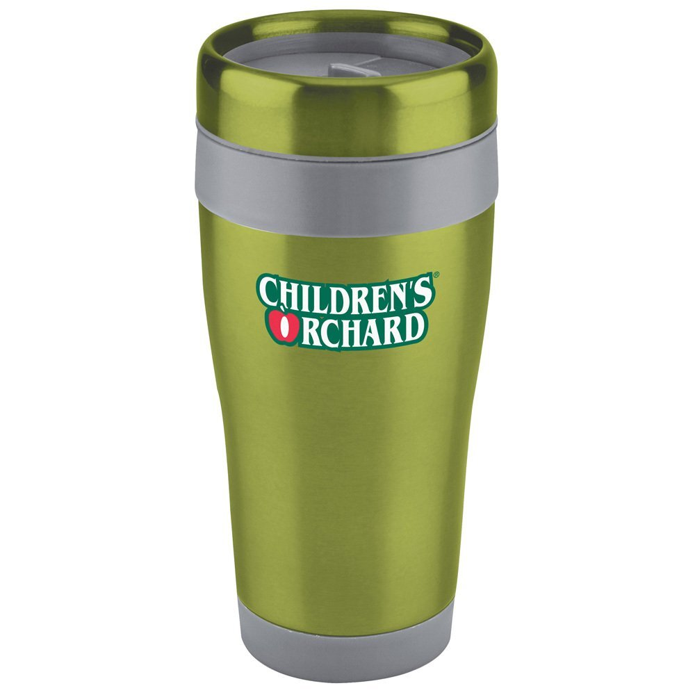 Stainless Solid Color Tumbler with Gray Liner, 16oz.