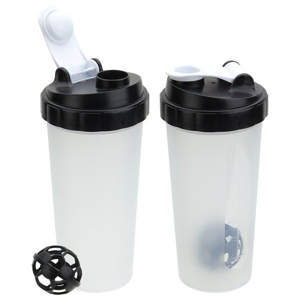 Flip-Top Plastic Shaker Tumbler, 20oz.