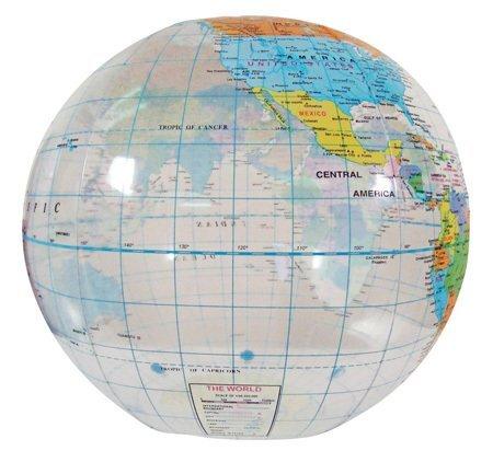 "Globe Beach Ball, 12"""