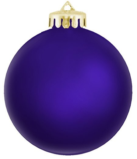Unbreakable Satin Finish Round Ornament, 3-1/4""
