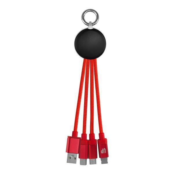 Circular Light Up Logo Cable w/ Type C USB