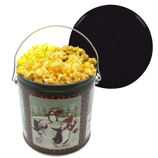 One Gallon Holiday Popcorn Assortment Tin