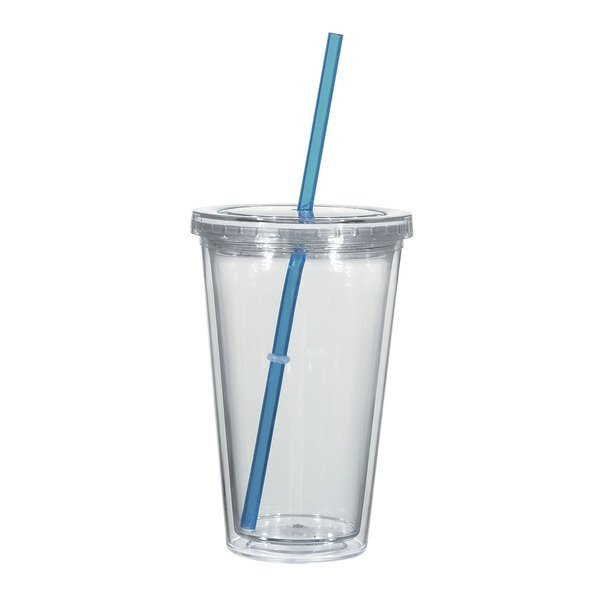 Double Wall Tumbler w/ Corporate Color Jelly Beans, 16oz.