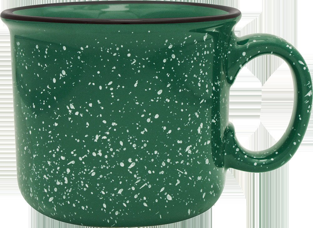 Speckled Ceramic Camper Mug, 14oz.