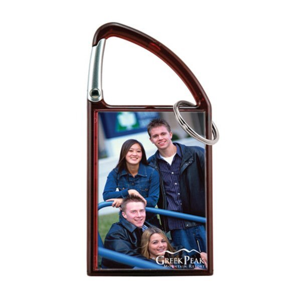 Carabiner Photo Snap-In Keytag