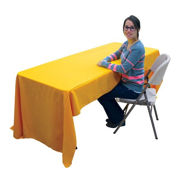 Quick Ship Economy Table Throw. 6' - Full Color Imprint