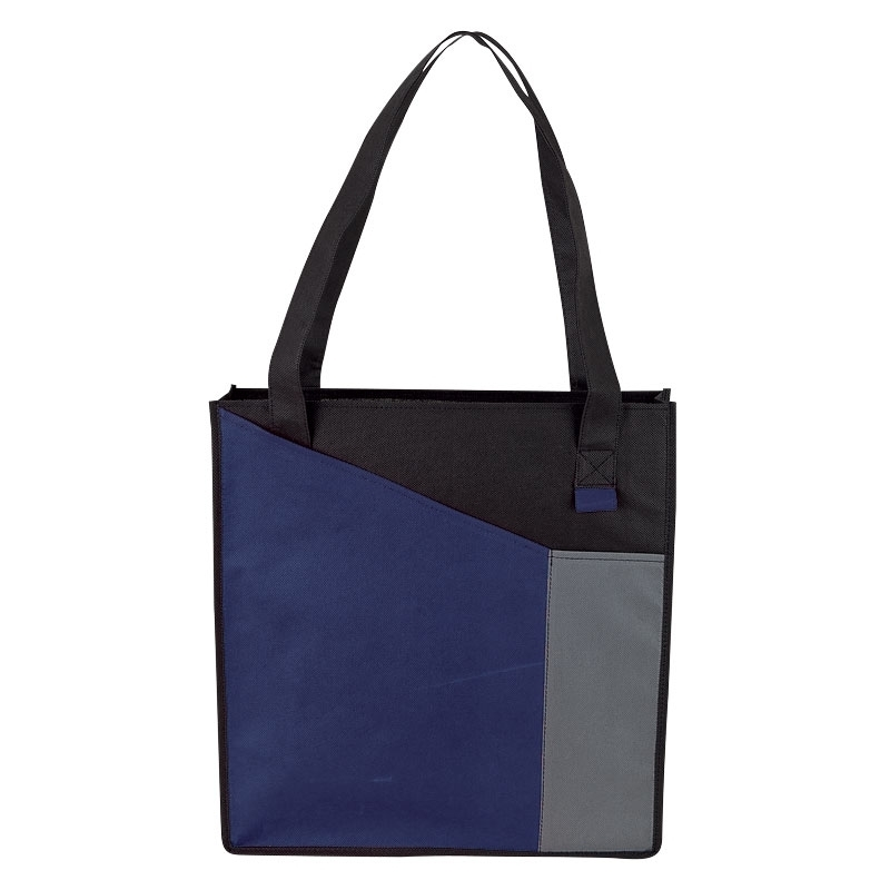 Angled Colorblock Non-Woven Tote - Free Set Up Charges!