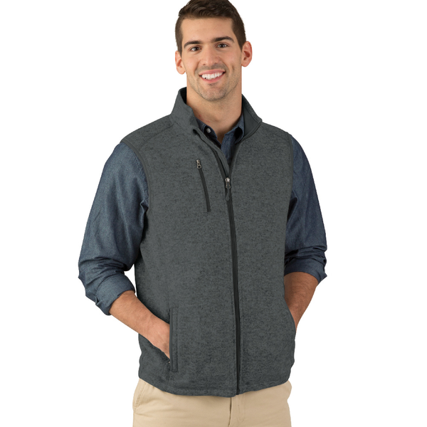 Charles River® Pacific Men's Heathered Fleece Vest