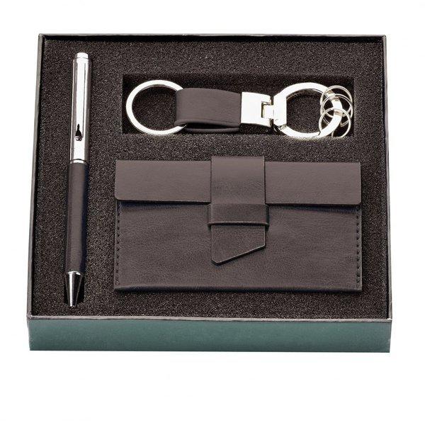 Fabrizio Card Case, Key Ring & Ballpoint Pen Gift Set