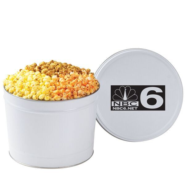 Three Way Popcorn Tin, 2 Gallon