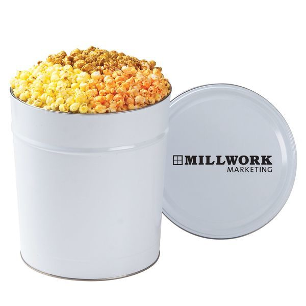 Three Way Popcorn Tin, 3.5 Gallon