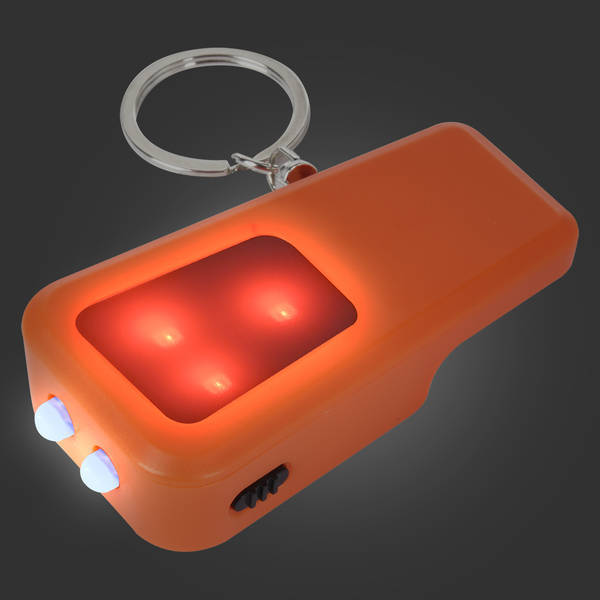 COB Light & Safety Whistle Key Ring