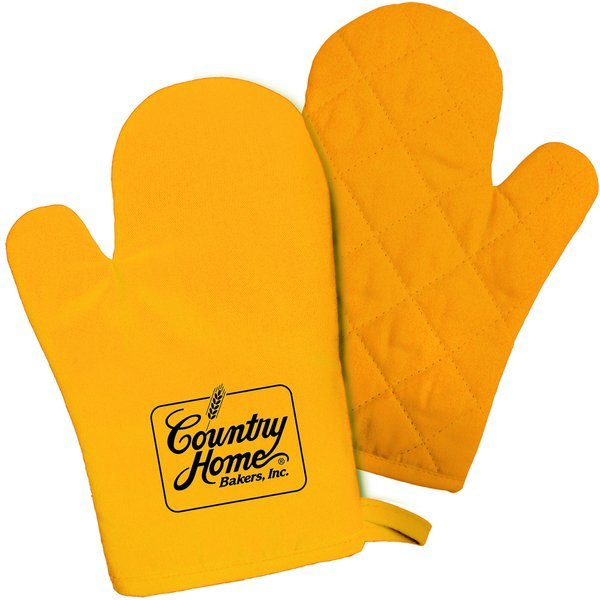 Sunny Side Up Cotton Canvas Oven Mitt