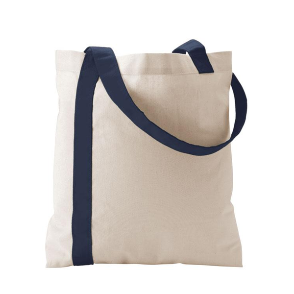 Color Stripe Cotton Economy Tote
