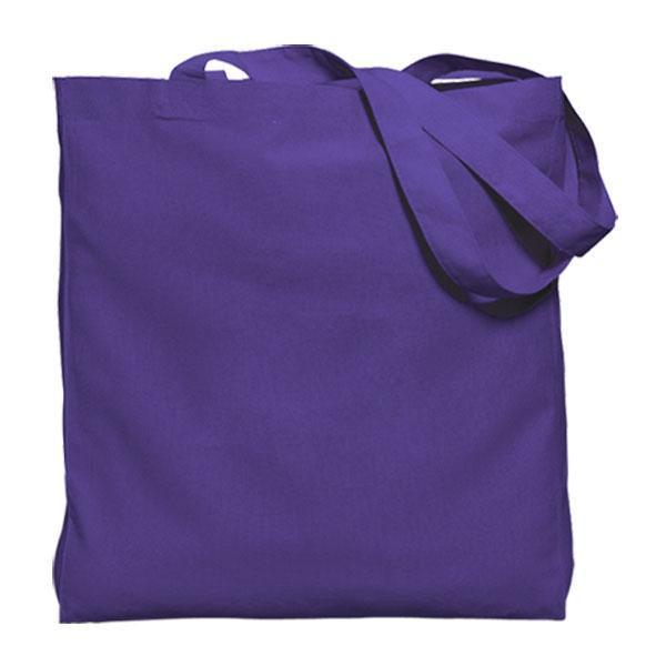 Colored Gusseted Economy Cotton Tote, 6oz.