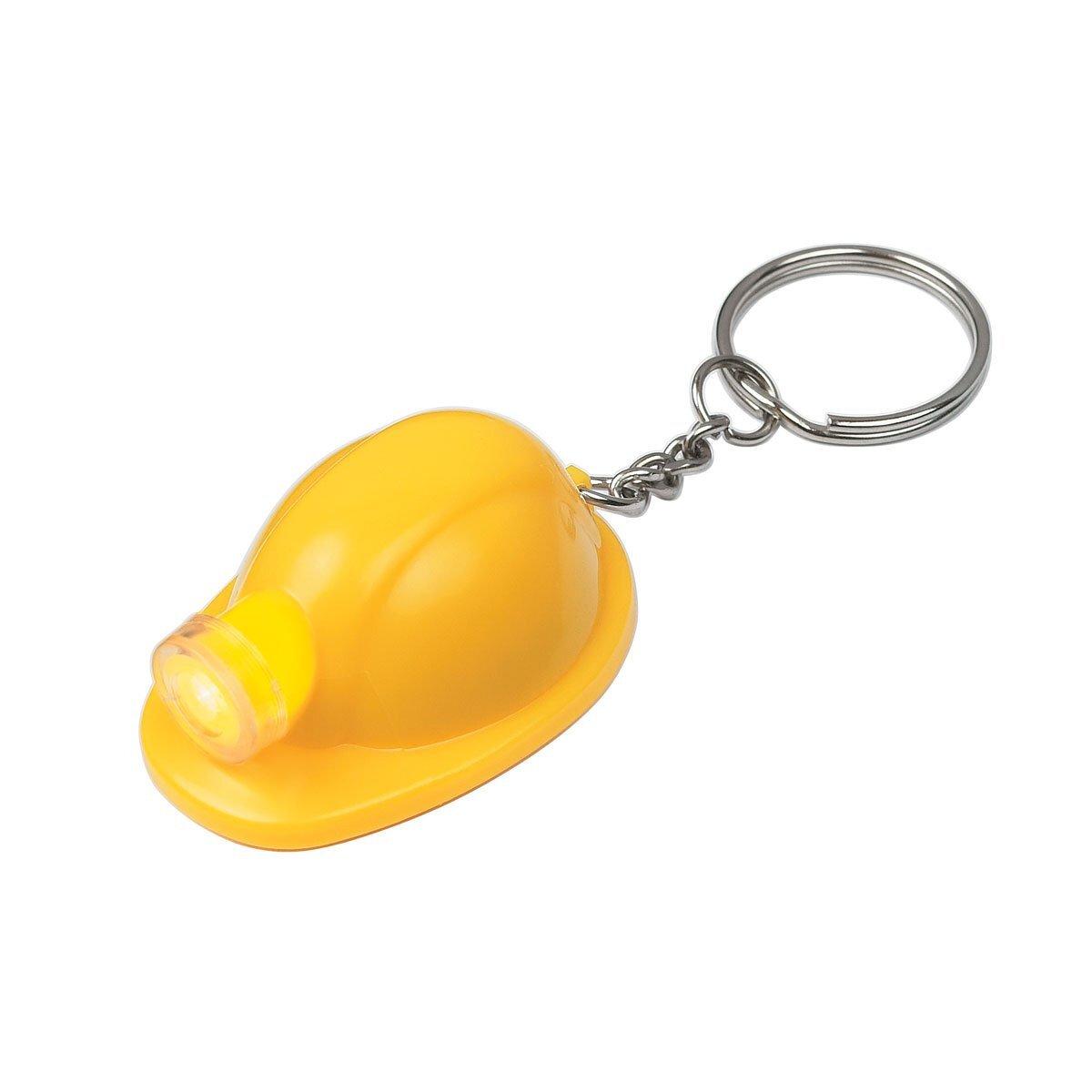 Hard Hat LED Light Key Chain