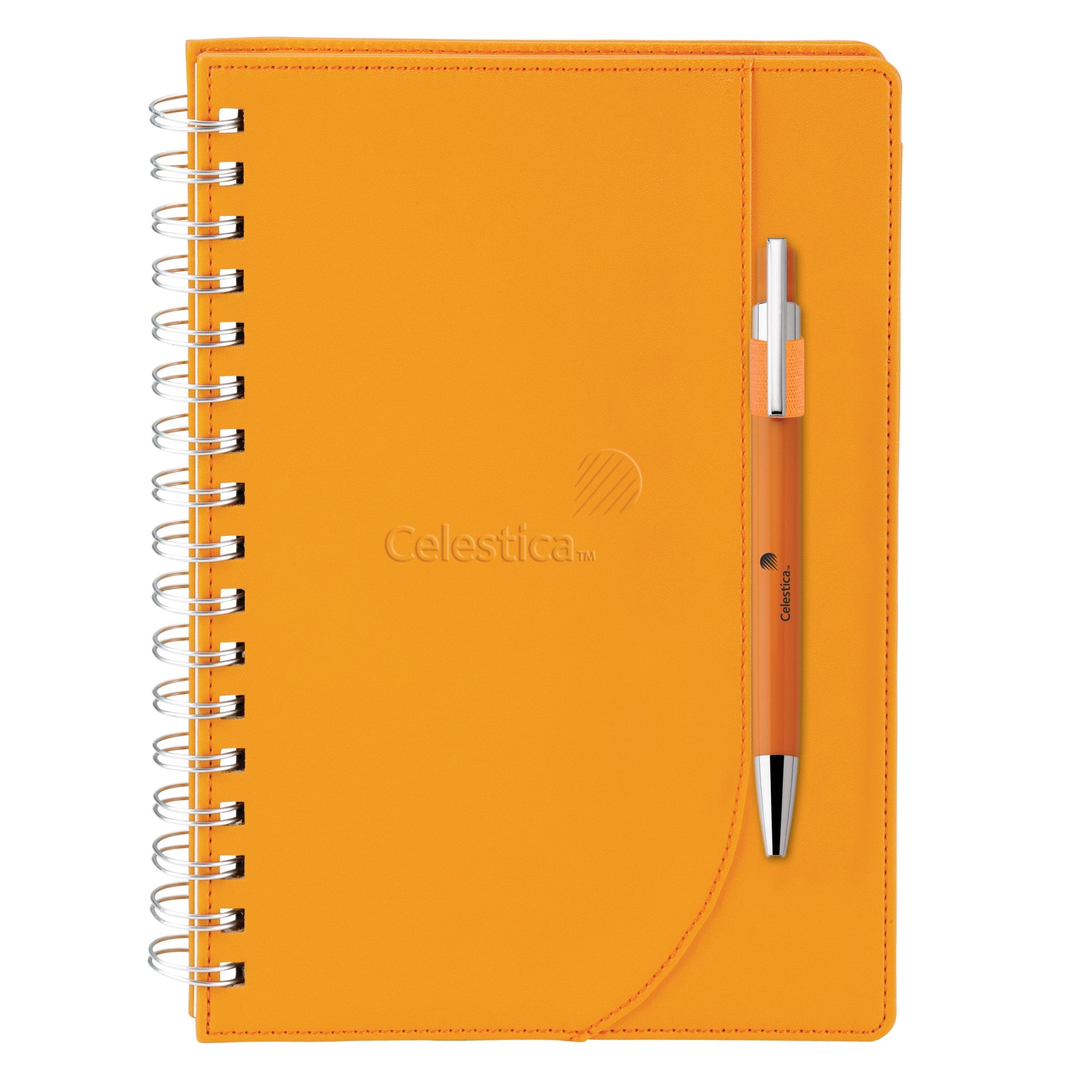 "NeoSkin® Spiral Journal & Pen Set, 5-15/16"" x 9"""