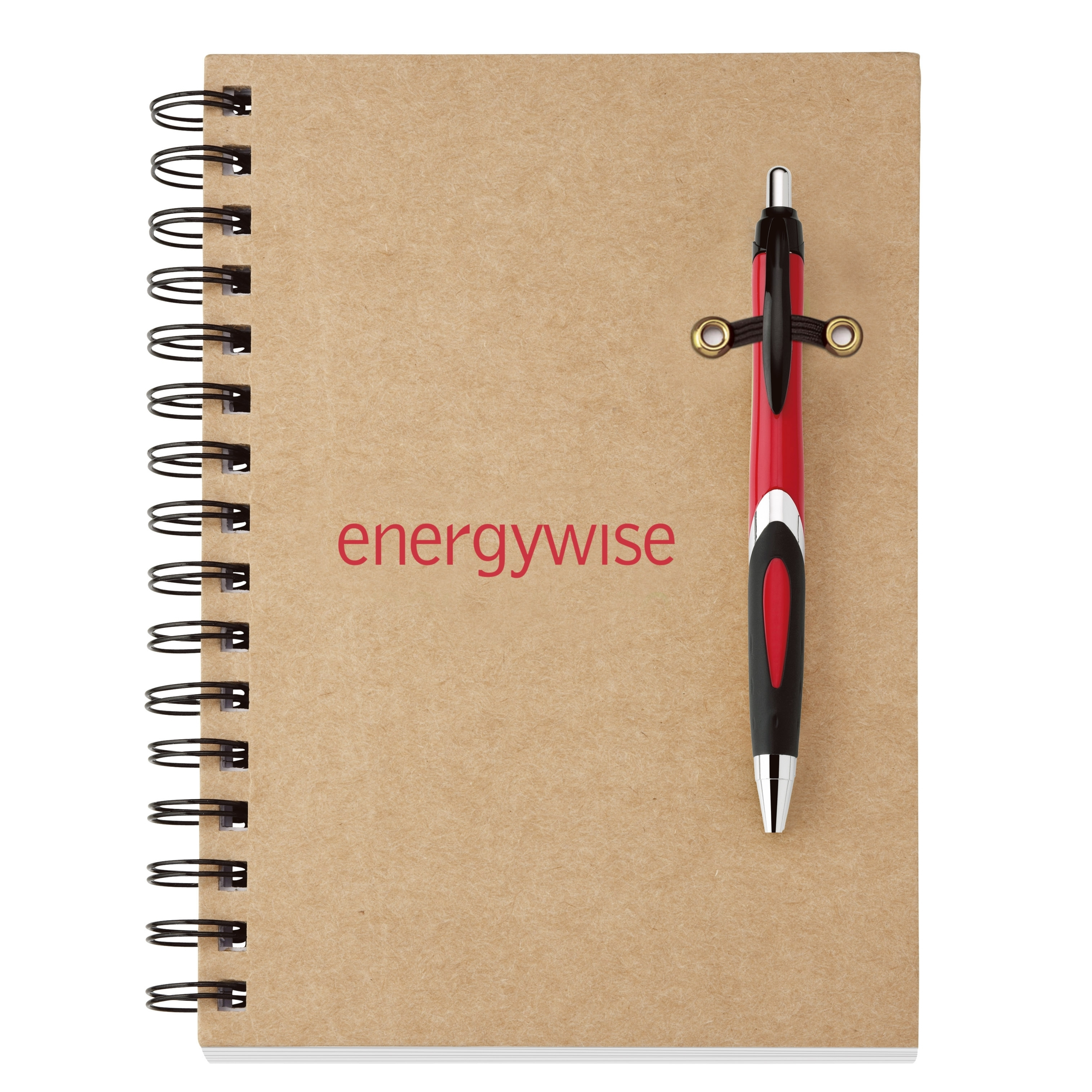 """Recycled Notebook with Pen, 5-3/4"""" x 8-1/4"""""""