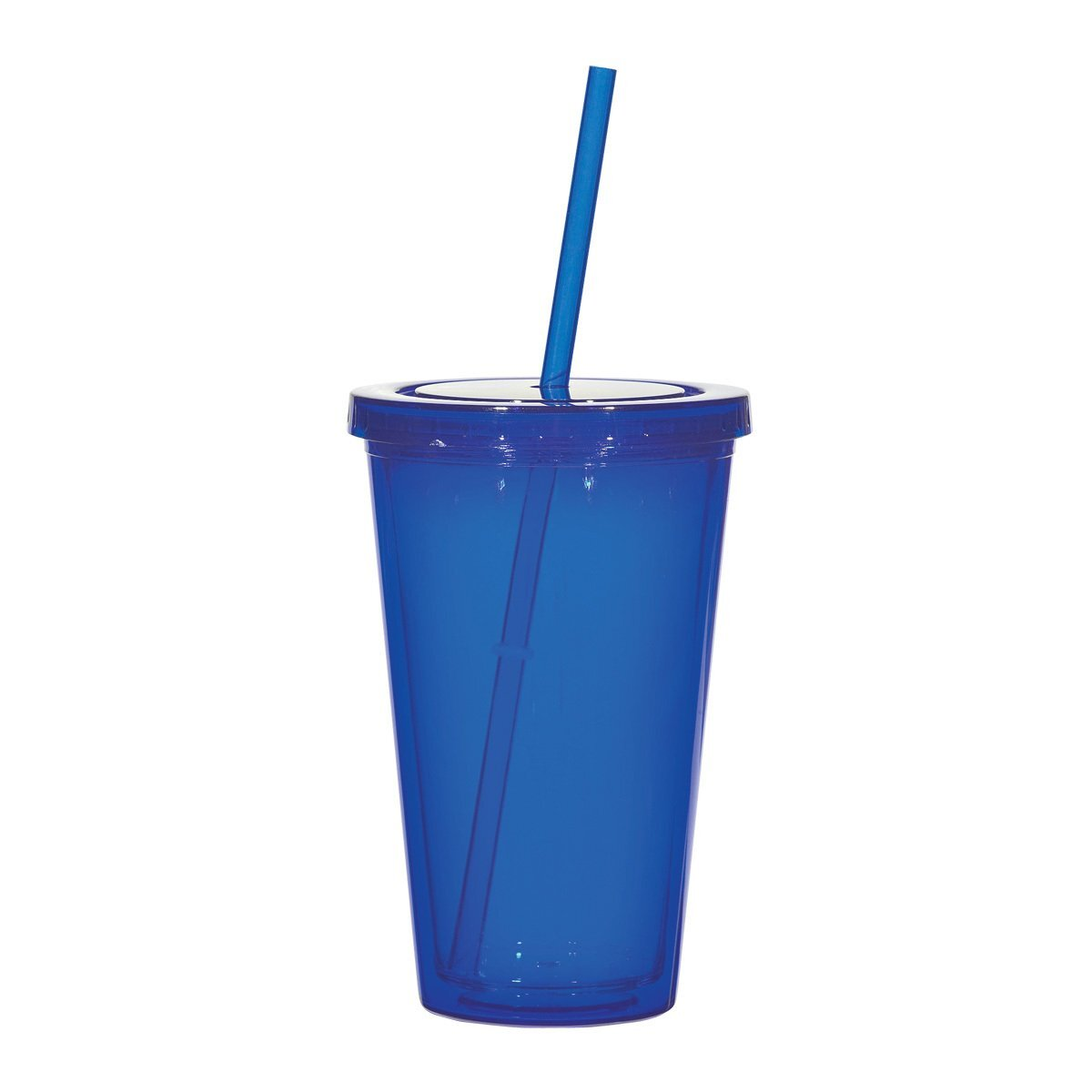 Double Wall Acrylic Tumbler with Straw, 16oz., BPA Free