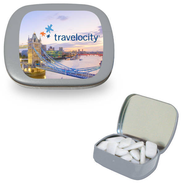 Hinged Tin Filled with Gum
