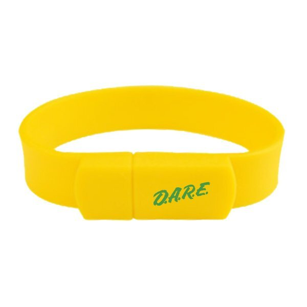 Rubberized Wrist Band USB Flash Drive, 2GB - Free Shipping!