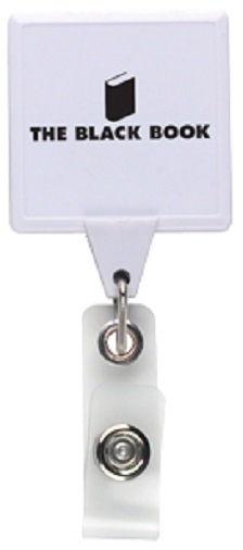 Jumbo Square Retractable Badgeholder, Aligator Clip