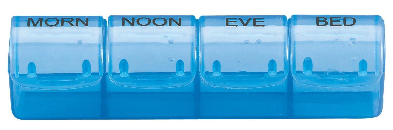 "Spring Action 28-Compartment Medicine Tray, 7-3/4"""