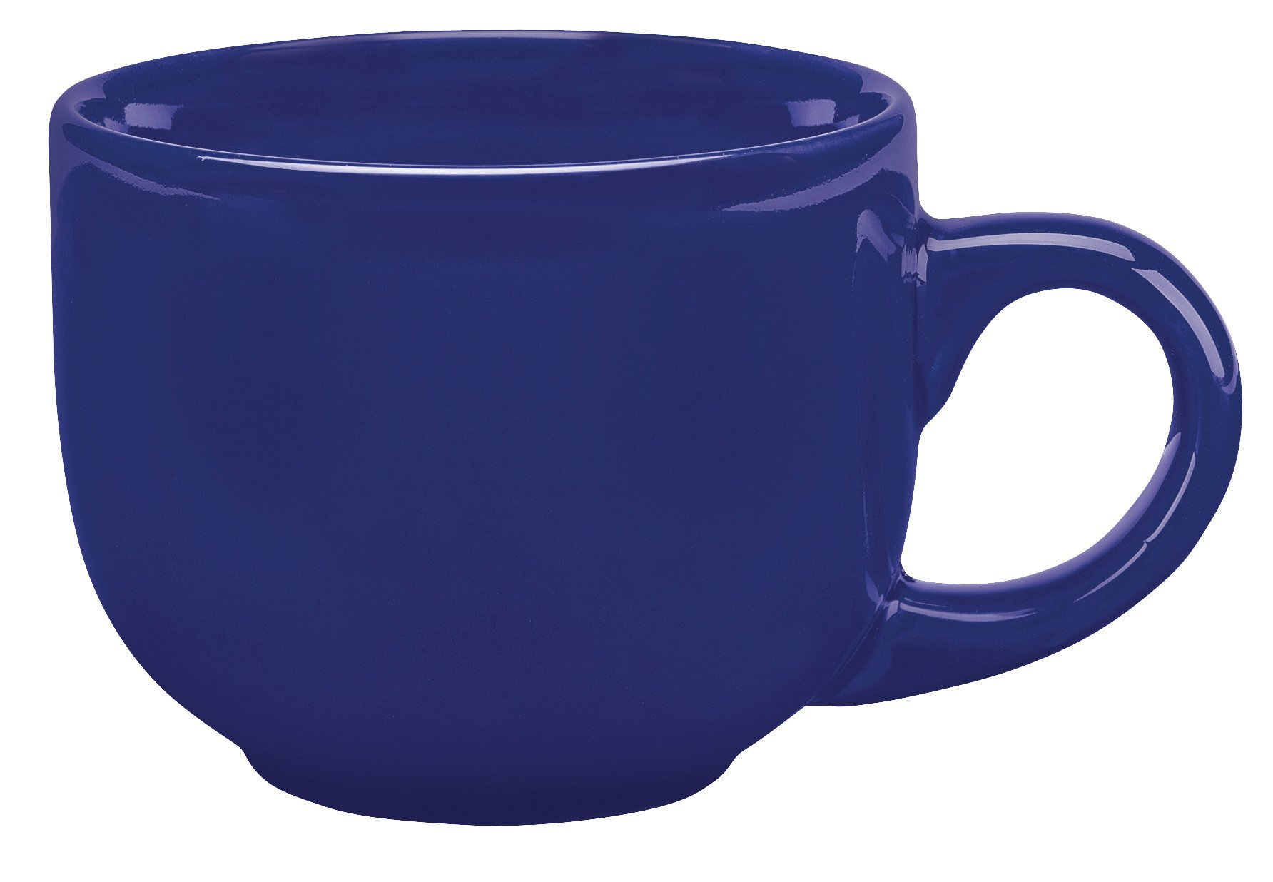 Glossy Ceramic Latte Mug, 16oz.