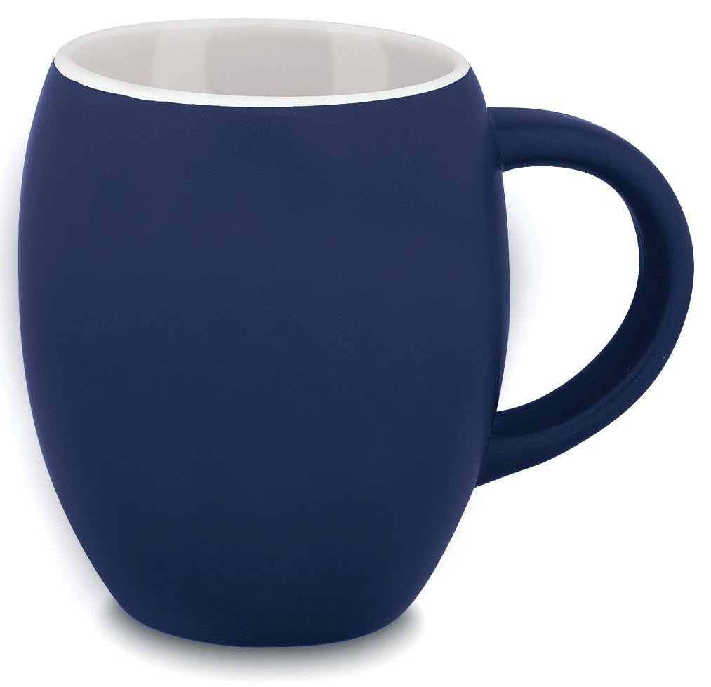 Matte Barrel Ceramic Mug, 16oz.