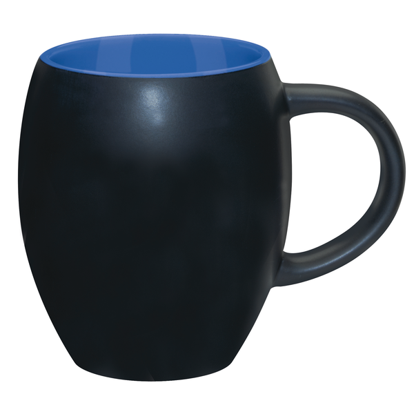 Matte Barrel with Color Ironstone Mug, 16oz.