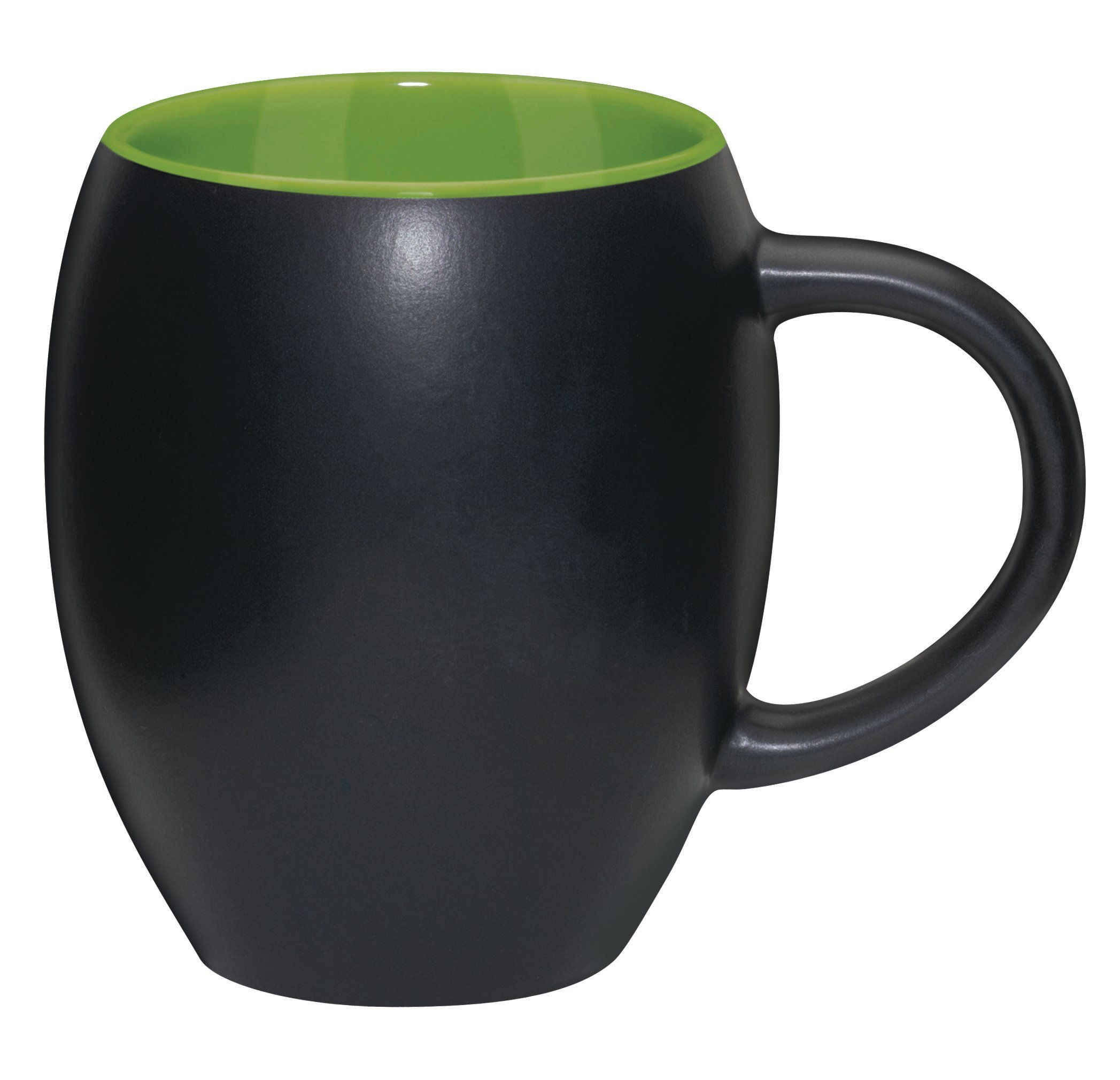 Matte Barrel with Color Ironstone Mug, 16oz.