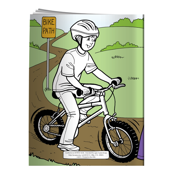 Barkley Teaches Bicycle Safety Coloring Activity