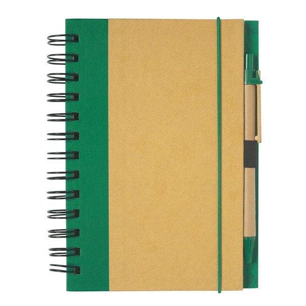 "Eco-Friendly Spiral Notebook & Pen, 5-1/2"" x 7"""